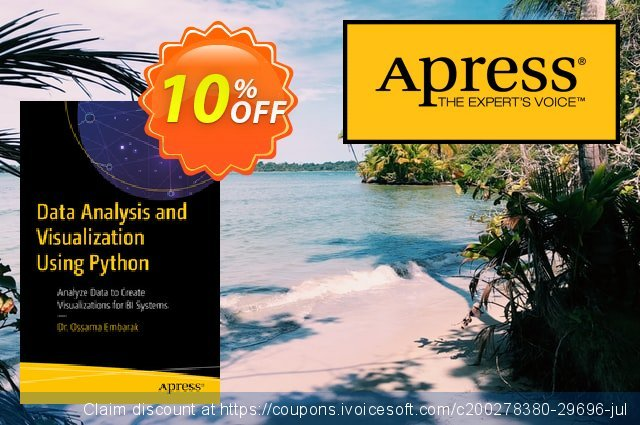 Data Analysis and Visualization Using Python (Embarak) discount 10% OFF, 2020 Halloween offering sales