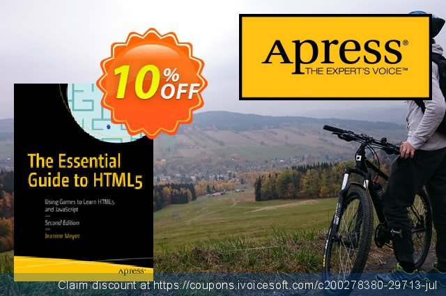 The Essential Guide to HTML5 (Meyer) discount 10% OFF, 2020 Halloween promo sales