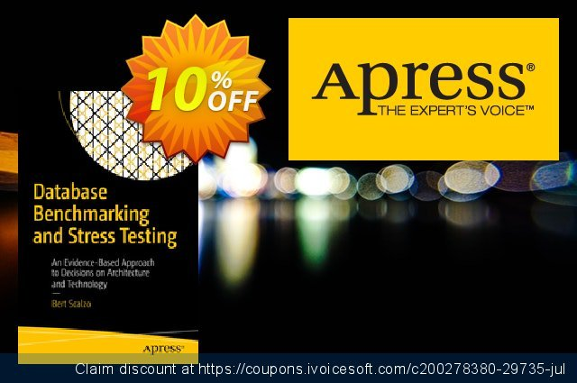 Database Benchmarking and Stress Testing (Scalzo) discount 10% OFF, 2020 Halloween offering sales