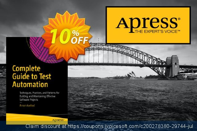 Complete Guide to Test Automation (Axelrod) discount 10% OFF, 2020 Halloween sales