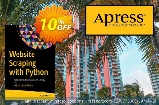 Website Scraping with Python (Hajba) discount 10% OFF, 2020 Halloween offer