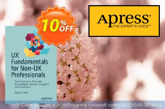 UX Fundamentals for Non-UX Professionals (Stull) discount 10% OFF, 2020 Halloween offering sales