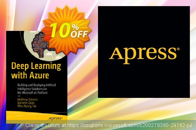Deep Learning with Azure (Salvaris) discount 10% OFF, 2020 Halloween promotions