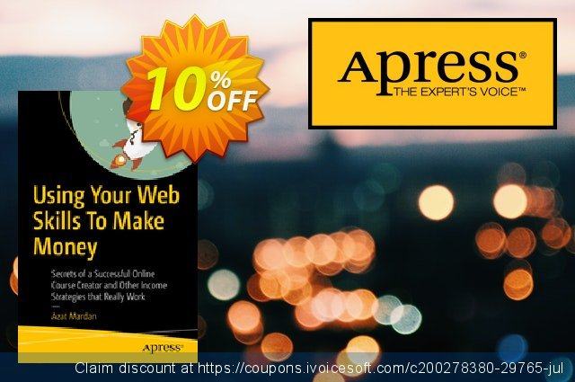 Using Your Web Skills To Make Money (Mardan) discount 10% OFF, 2020 Halloween offer