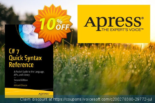 C# 7 Quick Syntax Reference (Olsson) discount 10% OFF, 2020 Halloween offering sales