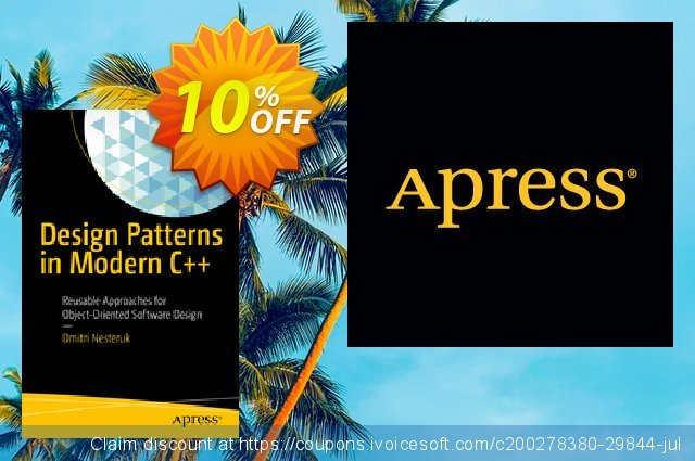 Design Patterns in Modern C++ (Nesteruk) discount 10% OFF, 2020 Back-to-School promotions offering discount