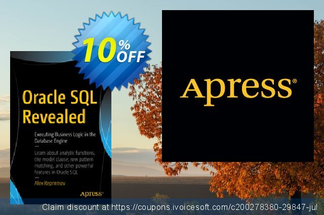 Oracle SQL Revealed (Reprintsev) discount 10% OFF, 2020 Halloween promo