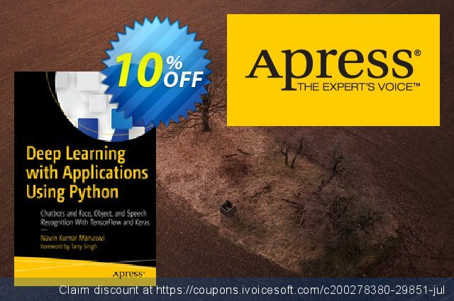 Deep Learning with Applications Using Python (Manaswi)  대단하   촉진  스크린 샷