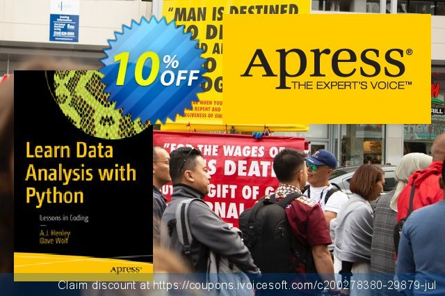 Learn Data Analysis with Python (Henley) discount 10% OFF, 2020 Halloween offer