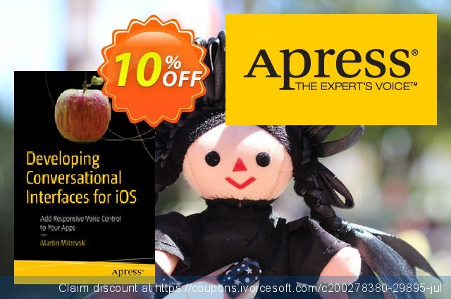 Developing Conversational Interfaces for iOS (Mitrevski) discount 10% OFF, 2020 Thanksgiving Day sales