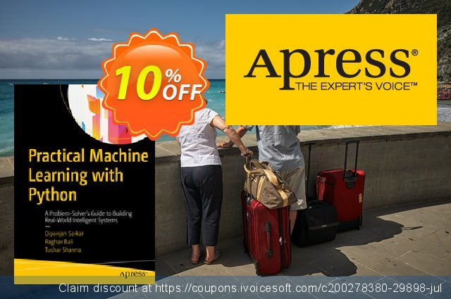 Practical Machine Learning with Python (Sarkar) discount 10% OFF, 2020 Thanksgiving Day discount