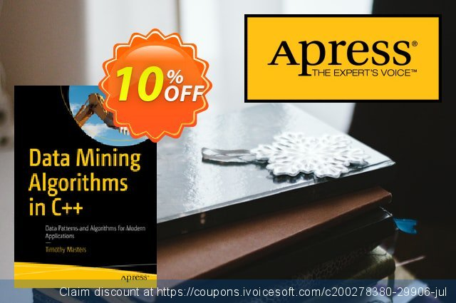 Data Mining Algorithms in C++ (Masters) discount 10% OFF, 2020 Back to School event offering sales