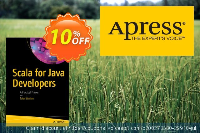 Scala for Java Developers (Weston) discount 10% OFF, 2020 Thanksgiving Day offering sales