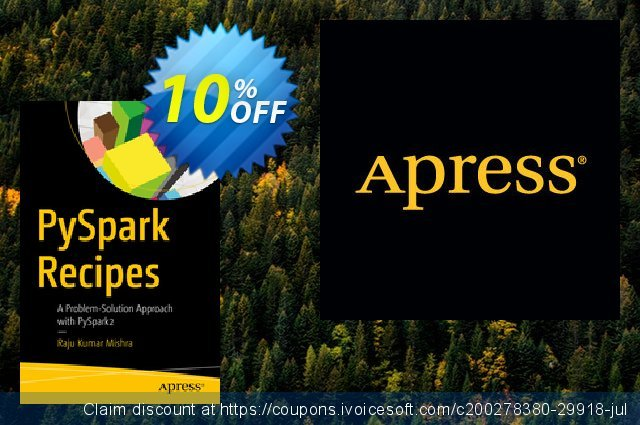 PySpark Recipes (Mishra) discount 10% OFF, 2020 Thanksgiving offering discount