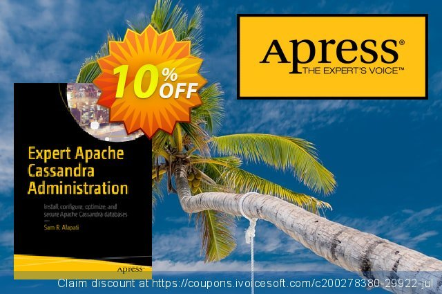 Expert Apache Cassandra Administration (Alapati) discount 10% OFF, 2020 Thanksgiving Day promo