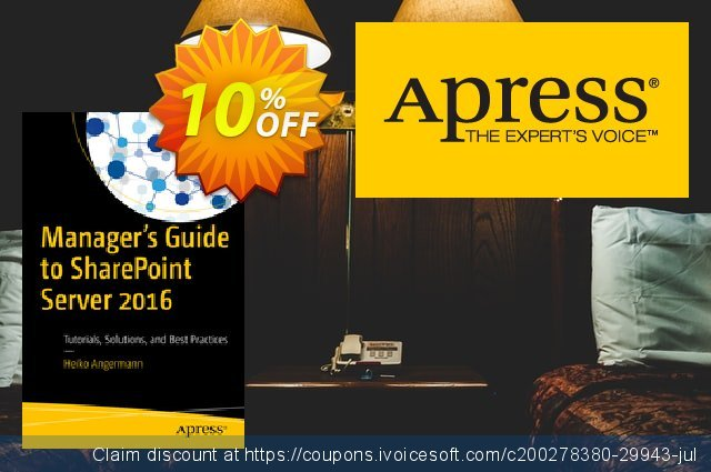 Manager's Guide to SharePoint Server 2016 (Angermann) discount 10% OFF, 2020 Thanksgiving Day offering sales