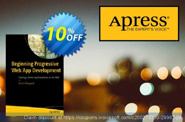 Beginning Progressive Web App Development (Sheppard) discount 10% OFF, 2020 Black Friday offering sales