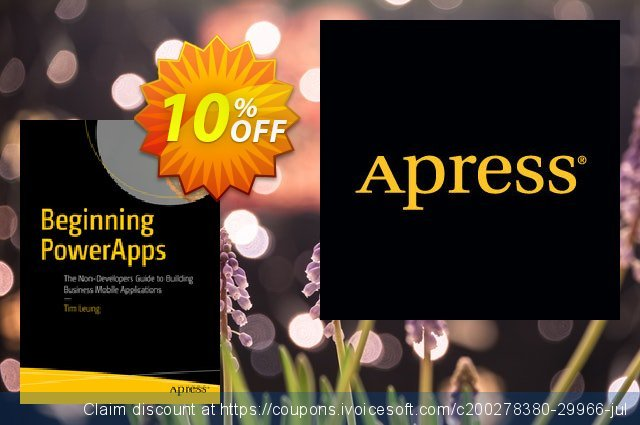 Beginning PowerApps (Leung) discount 10% OFF, 2020 Thanksgiving offering sales