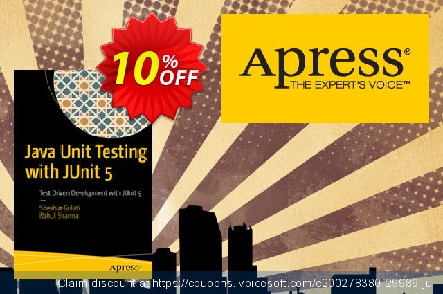 Java Unit Testing with JUnit 5 (Gulati) discount 10% OFF, 2020 Black Friday promotions