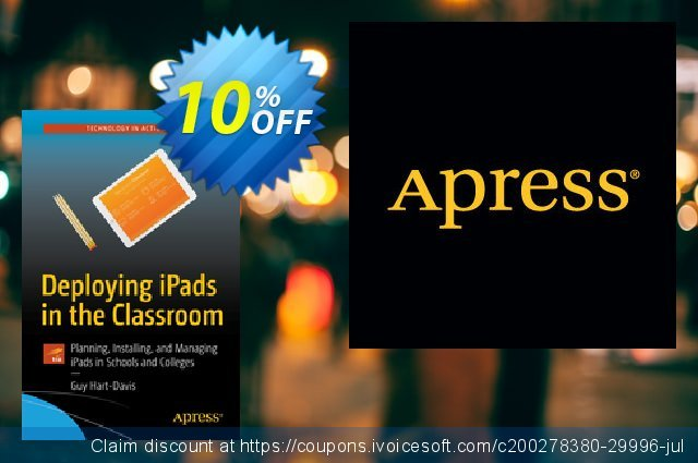 Deploying iPads in the Classroom (Hart-Davis) discount 10% OFF, 2020 Thanksgiving offering deals