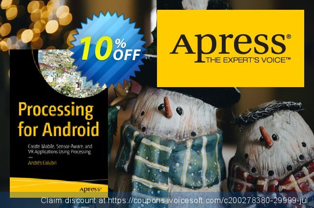 Processing for Android (Colubri) discount 10% OFF, 2020 Thanksgiving offering sales