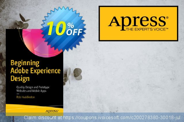 Beginning Adobe Experience Design (Huddleston) discount 10% OFF, 2020 Thanksgiving Day offering sales