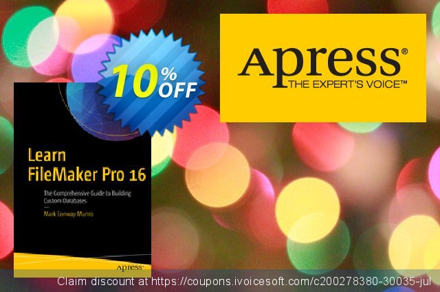Learn FileMaker Pro 16 (Munro) discount 10% OFF, 2020 New Year's eve promo