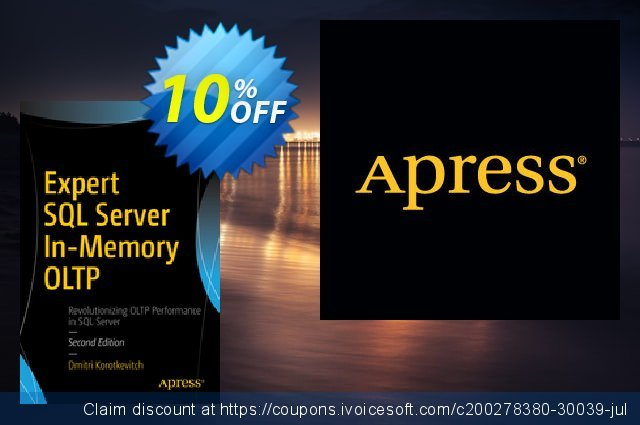 Expert SQL Server In-Memory OLTP (Korotkevitch) discount 10% OFF, 2020 Thanksgiving Day offering sales