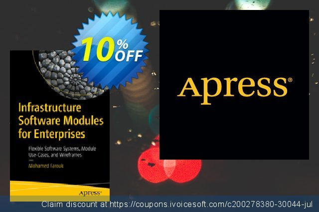 Infrastructure Software Modules for Enterprises (Farouk) discount 10% OFF, 2020 Thanksgiving offering sales