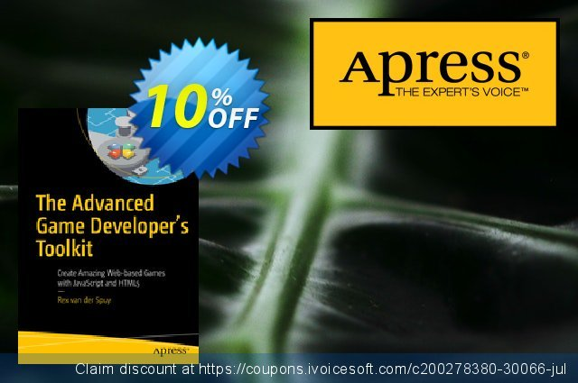 The Advanced Game Developer's Toolkit (van der Spuy) discount 10% OFF, 2020 Thanksgiving Day sales