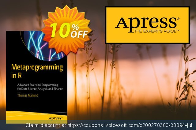 Metaprogramming in R (Mailund) discount 10% OFF, 2021 New Year's Weekend promotions