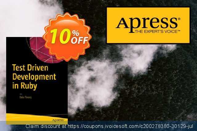 Test Driven Development in Ruby (Paranj) discount 10% OFF, 2021 New Year's Weekend offering sales