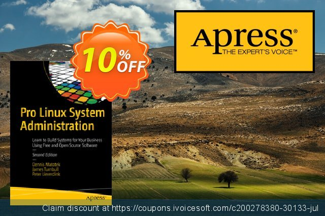 Pro Linux System Administration (Matotek) discount 10% OFF, 2021 Happy New Year sales