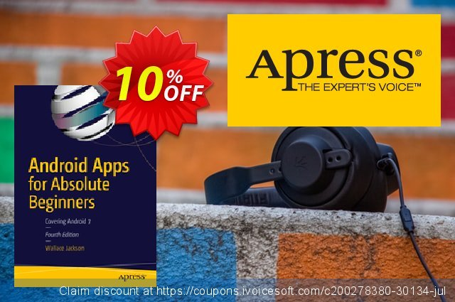 Android Apps for Absolute Beginners (Jackson) discount 10% OFF, 2021 January deals