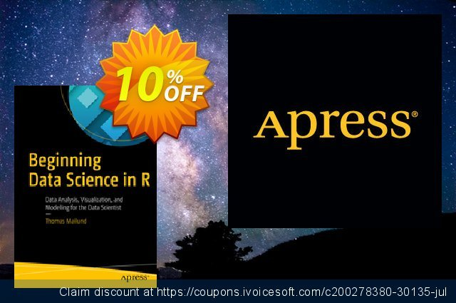 Beginning Data Science in R (Mailund) discount 10% OFF, 2020 Thanksgiving Day offering sales