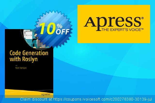 Code Generation with Roslyn (Harrison) discount 10% OFF, 2021 New Year's Day offering deals