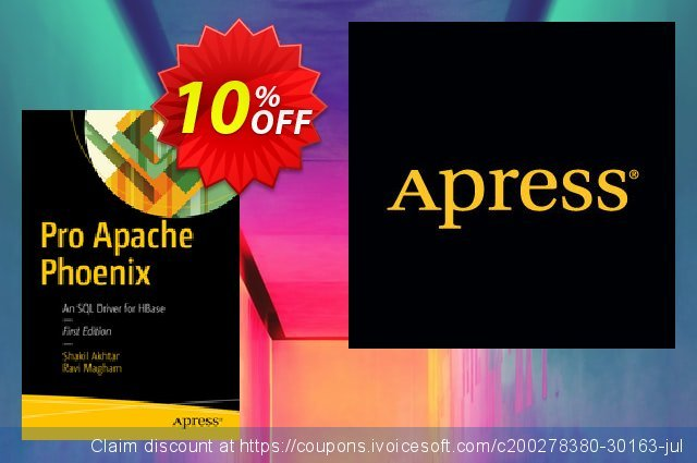 Pro Apache Phoenix (Akhtar) discount 10% OFF, 2021 Happy New Year offering sales