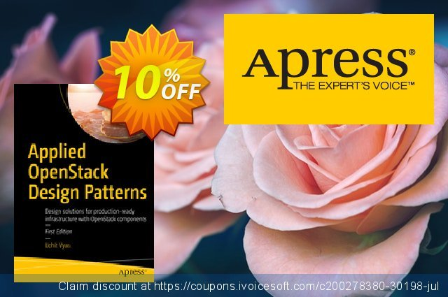 Applied OpenStack Design Patterns (Vyas) discount 10% OFF, 2021 Happy New Year promo