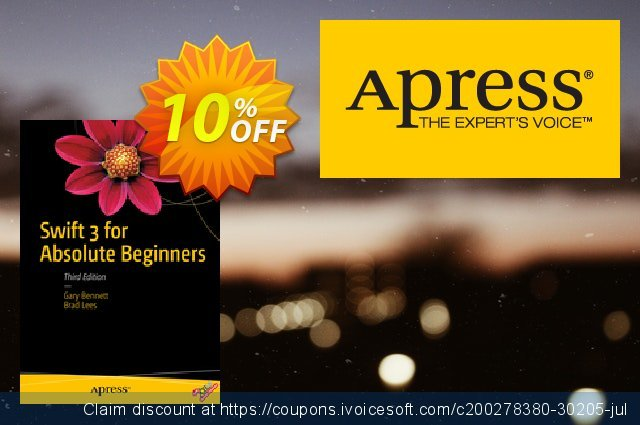 Swift 3 for Absolute Beginners (Bennett) discount 10% OFF, 2021 Happy New Year offering sales