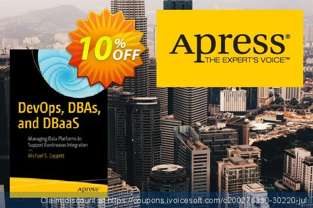 DevOps, DBAs, and DBaaS (Cuppett) discount 10% OFF, 2021 New Year's Weekend offering sales