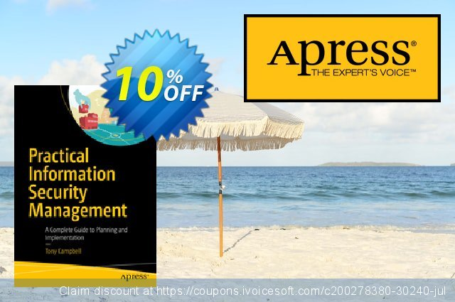 Practical Information Security Management (CAMPBELL) discount 10% OFF, 2021 Happy New Year offering sales