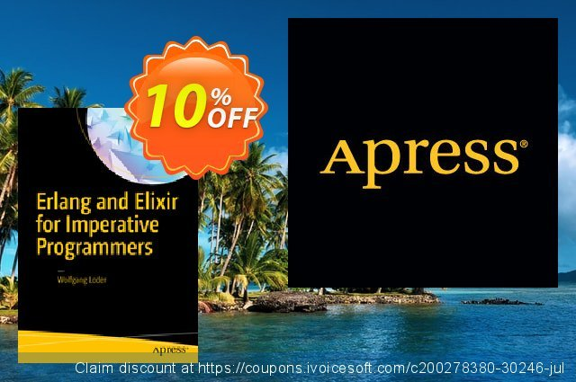 Erlang and Elixir for Imperative Programmers (Loder) discount 10% OFF, 2021 January promotions