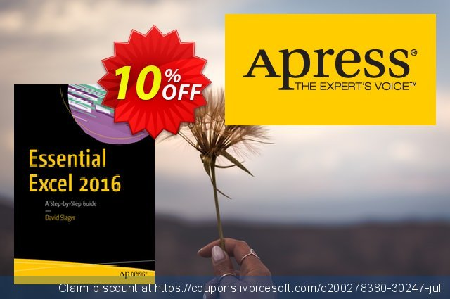 Essential Excel 2016 (Slager) discount 10% OFF, 2021 Happy New Year sales