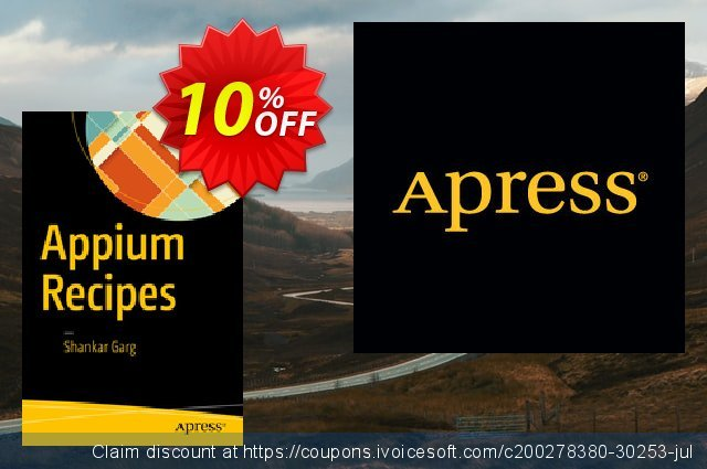 Appium Recipes (Garg) discount 10% OFF, 2021 January offering deals