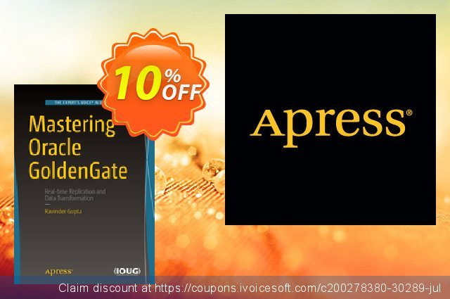 Mastering Oracle GoldenGate (Gupta) discount 10% OFF, 2021 Happy New Year offering discount