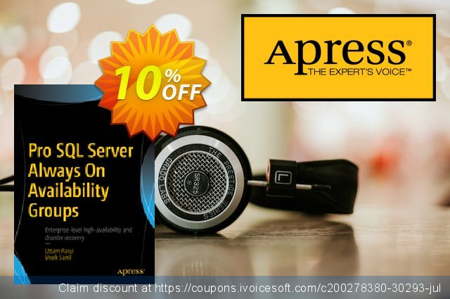 Pro SQL Server Always On Availability Groups (Parui) discount 10% OFF, 2021 New Year's Day promo
