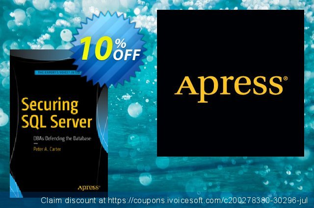 Securing SQL Server (Carter) discount 10% OFF, 2020 Thanksgiving offer