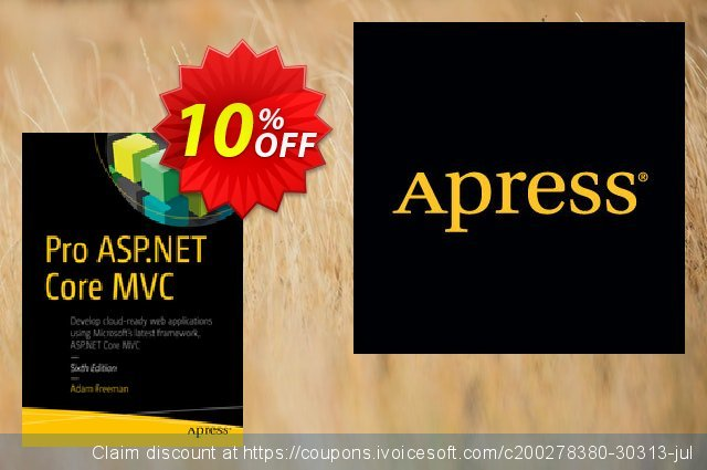 Pro ASP.NET Core MVC (Freeman) discount 10% OFF, 2021 New Year offering sales