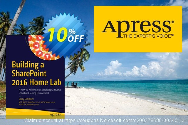 Building a SharePoint 2016 Home Lab (Simpkins) discount 10% OFF, 2021 Spring discounts