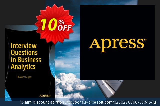 Interview Questions in Business Analytics (Gupta) discount 10% OFF, 2021 Happy New Year deals